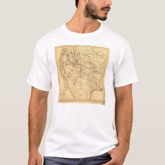 Map of the Trans-Mississippi Between 1807 and 1843 T-Shirt