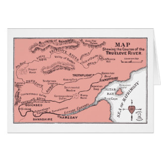 Map of the Truelove River Card