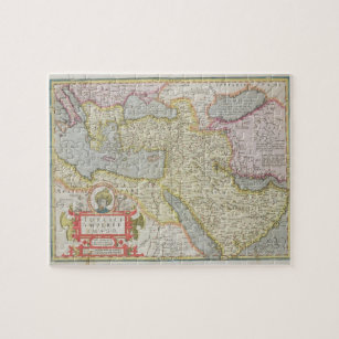 Superior Map Of The Turkish Empire, From The Mercator U0027Atla Jigsaw Puzzle