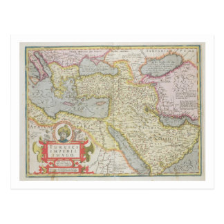 Map of the Turkish Empire, from the Mercator 'Atla Postcard