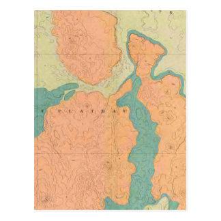 Map Of The Uinkaret Plateau Postcard