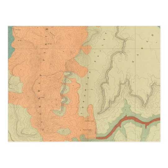 Map Of The Uinkaret Plateau South Half Postcard