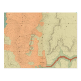 Map Of The Uinkaret Plateau South Half Postcards