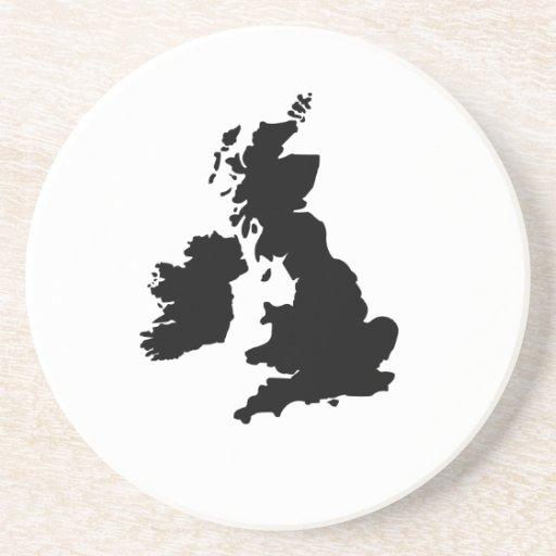 Map of the United Kingdom Coaster