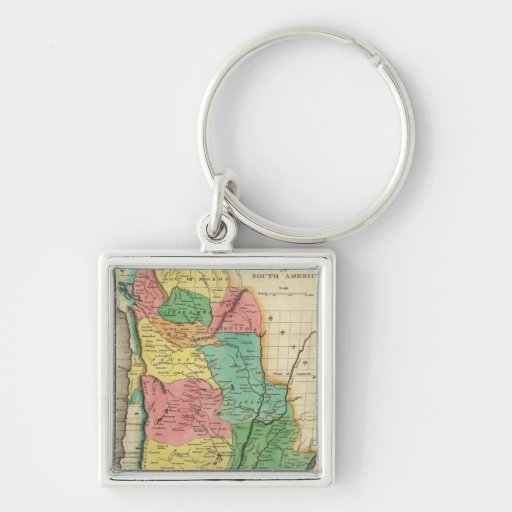Map Of The United Provinces Of South America Keychain