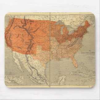 Map of the United States (1861) Mouse Pad