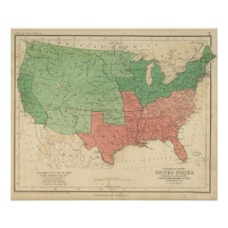 Map of The United States 2 Poster