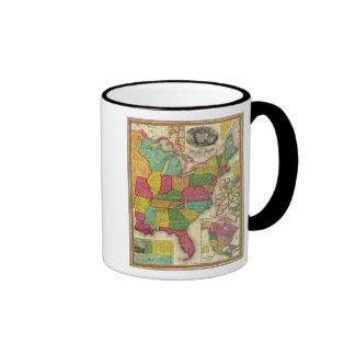 Map of the United States 2 Ringer Mug