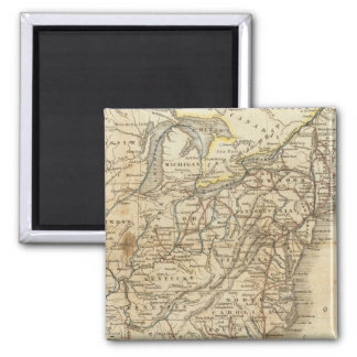 Map Of The United States 3 2 Inch Square Magnet