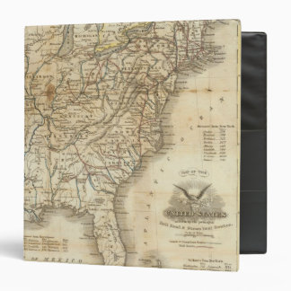 Map Of The United States 3 3 Ring Binder