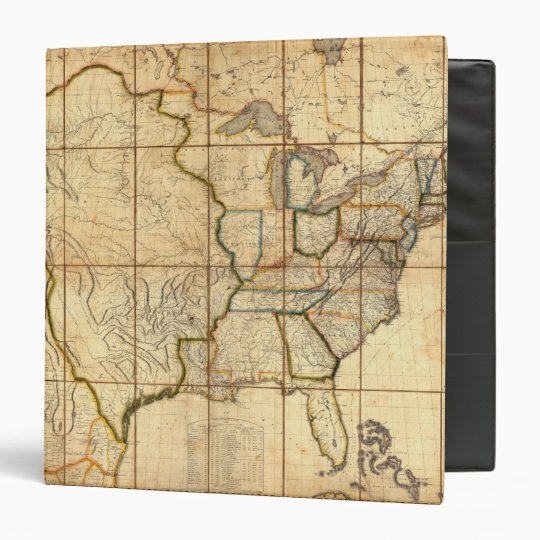 Map of the United States 3 Binder