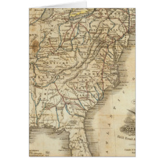 Map Of The United States 3 Card
