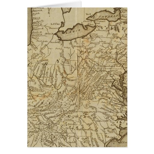 Map of the United States 3 Greeting Card