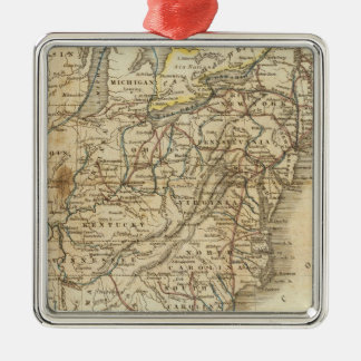Map Of The United States 3 Metal Ornament