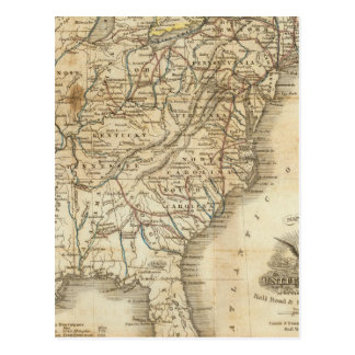 Map Of The United States 3 Postcard