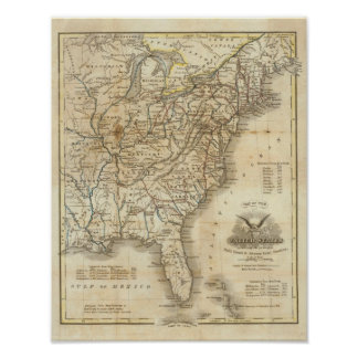 Map Of The United States 3 Poster