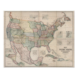 Map of The United States 3 Print