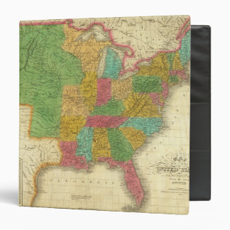 Map of the United States 3 Ring Binders