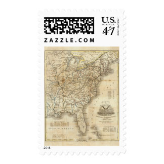 Map Of The United States 3 Stamp