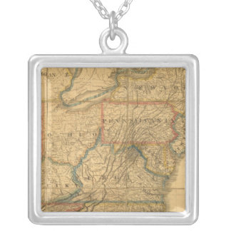 Map of the United States 4 Pendant