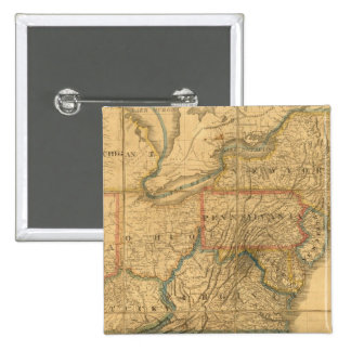 Map of the United States 4 Pinback Button