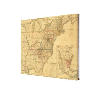 Map of the United States 5 Canvas Prints