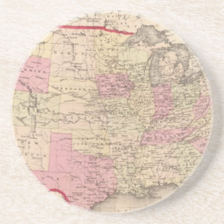 Map of the United States 5 Drink Coaster