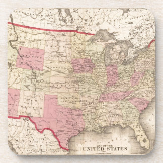 Map of the United States 5 Drink Coasters