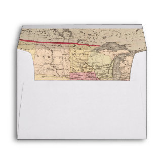 Map of the United States 5 Envelopes