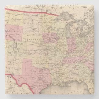 Map of the United States 5 Stone Coaster