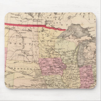 Map of the United States 5 Mouse Pad