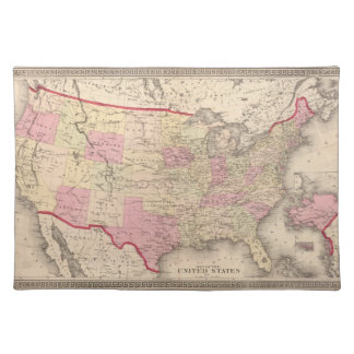 Map of the United States 5 Placemat