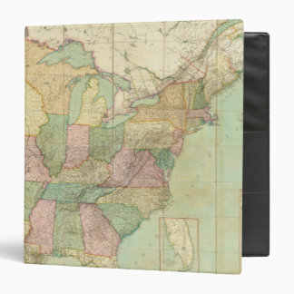 Map of the United States 6 3 Ring Binders