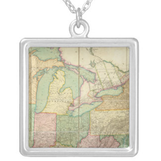 Map of the United States 6 Necklace