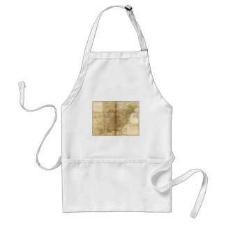 Map of the United States and Canada (1847) Adult Apron