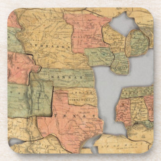 Map of the United States and Canada Drink Coasters