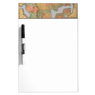 Map of the United States and Canada Dry Erase Board