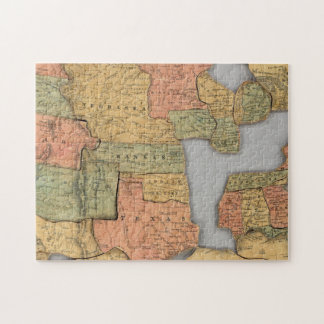 Map of the United States and Canada Jigsaw Puzzle