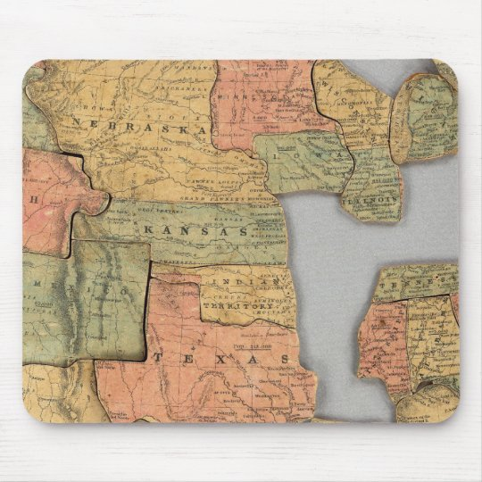 Map of the United States and Canada Mouse Pad