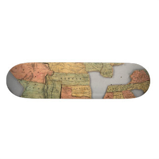 Map of the United States and Canada Skateboard Deck
