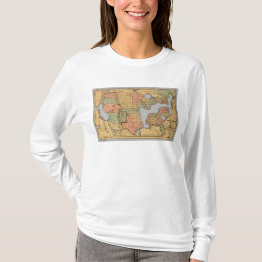 Map of the United States and Canada T-Shirt