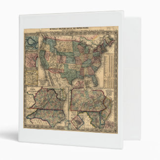 Map of the United States and Territories (1861) Binders