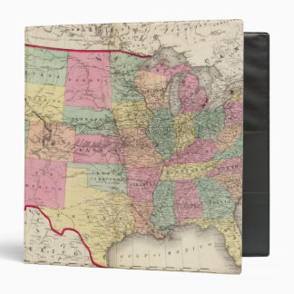 Map of the United States and territories Binders