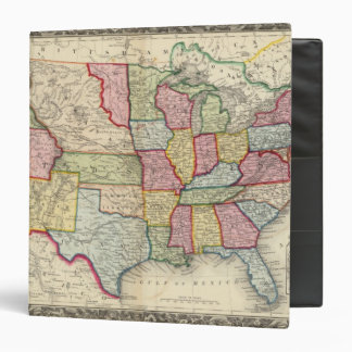 Map Of The United States, And Territories 3 Ring Binder