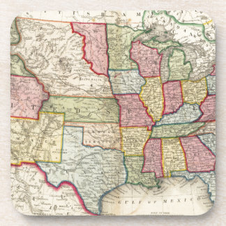 Map Of The United States, And Territories Drink Coaster