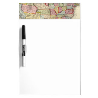 Map Of The United States, And Territories Dry Erase Board
