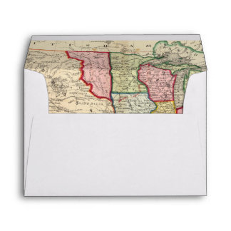 Map Of The United States, And Territories Envelopes