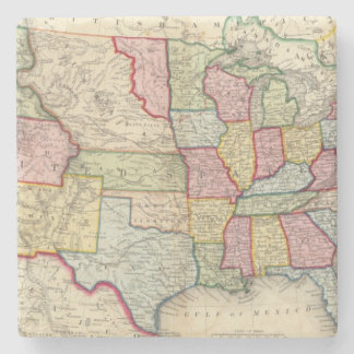 Map Of The United States, And Territories Stone Coaster