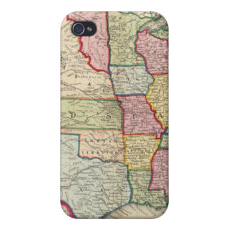 Map Of The United States, And Territories iPhone 4 Cover