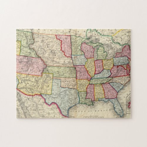 Map Of The United States And Territories Jigsaw Puzzle